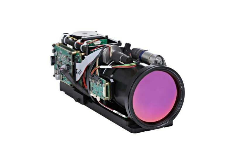 MCT Detector Thermal Security Camera 640x512 Pixel And 15~300mm Continuous Zoom Lens